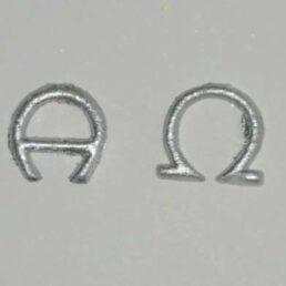 Reliëf van was Alpha en Omega zilver