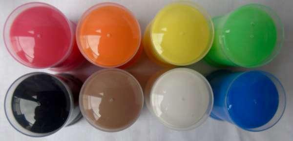 Glasverf 8 kleuren.
