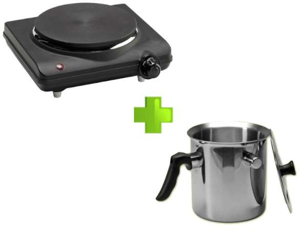 Kookplaat  Enkel +  Gietpan RVS
