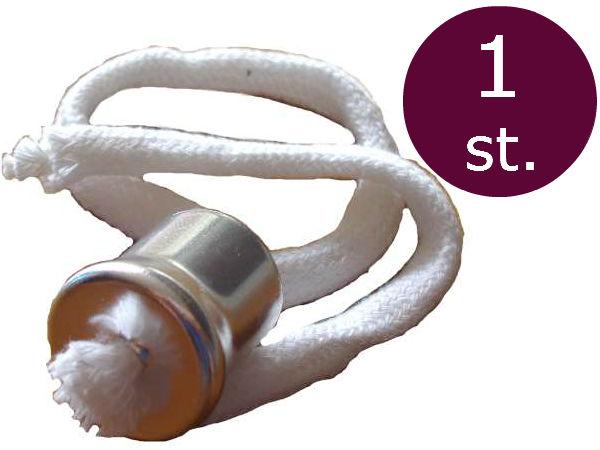 Lonthouder voor olielampen met kraag en 28cm lont  1 stuk
