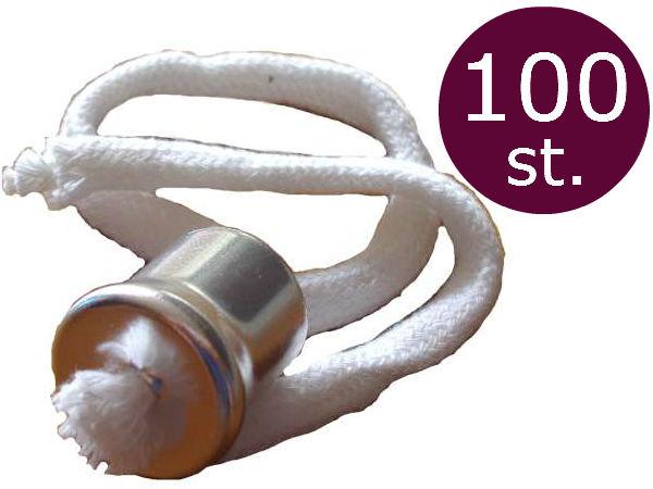 Lonthouder voor olielampen met kraag en 28cm lont  100 stuks
