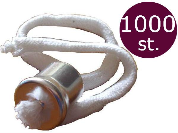 Lonthouder voor olielampen met kraag en 28cm lont 1000 stuks