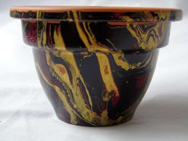 Marmerverf set voor kaarsen decoreren 10 kleuren
