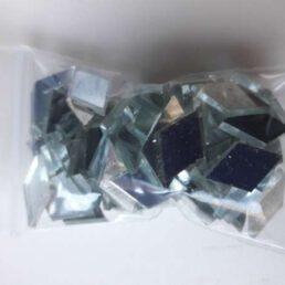 Mozaïek steentjes Spiegel ruitjes  15 x 10 ca. 50 st.