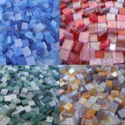 Mozaïek steentjes Glitter MIX 5 x 5 ca. 400 st.
