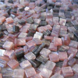 Mozaïek steentjes Marmer BRUIN 5 x 5 ca. 100 st.