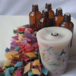 Olielamp kaarsen maken voor  5 personen