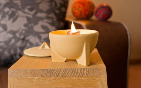 Smeltvuur Indoor CeraNatur®  + Deksel + Paraffine