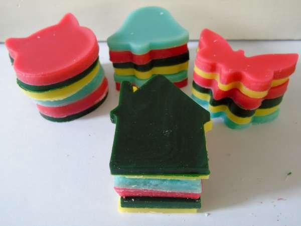 Stapel kaarsen maken 6 Vormen voor 10 personen