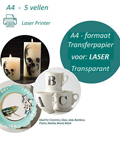 Transfer papier voor laser printer   5 vel