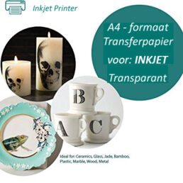 Transfer papier voor inkjet printer   5 vel