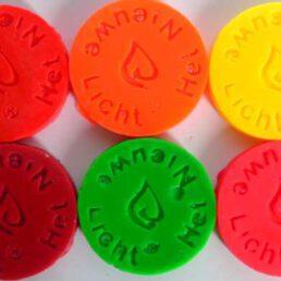Assortiment 6 Kleurpil Fluor