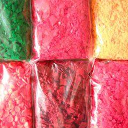 Assortiment Kleurstof:    6  Fluor kleuren 5 gram per kleur