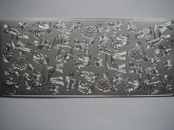 Stickervel Zilver Herfst Dieren en Bloemen