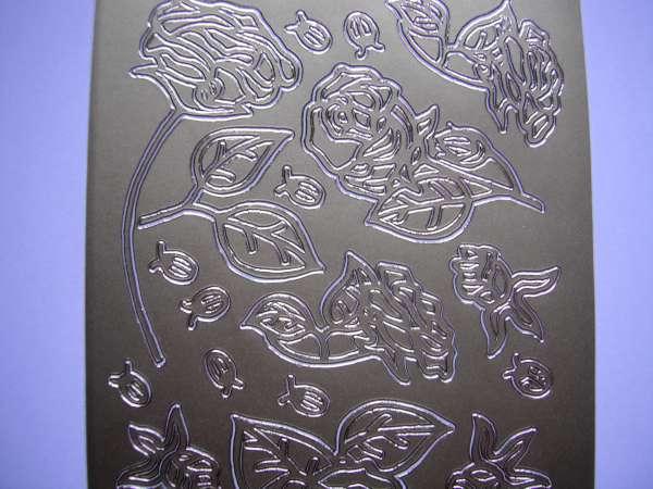 Stickervel Goud Rozen