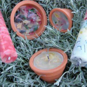 Tuin kaarsen maken
