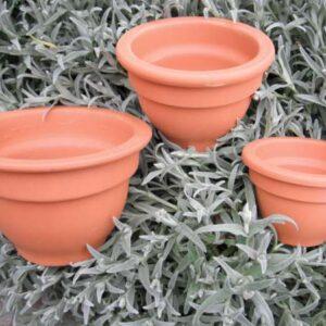 Terracotta potten/schalen