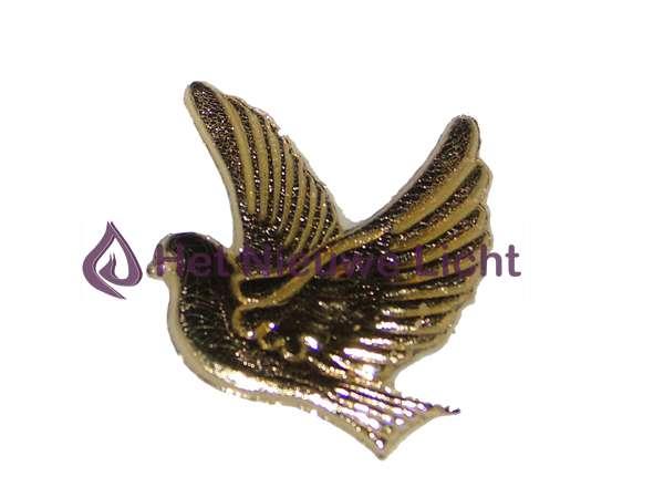 Reliëf van was 2 duiven Goud