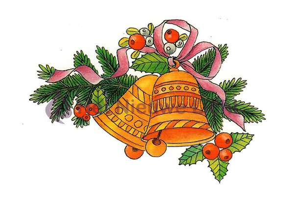 Foto decoratie Kerstklokken